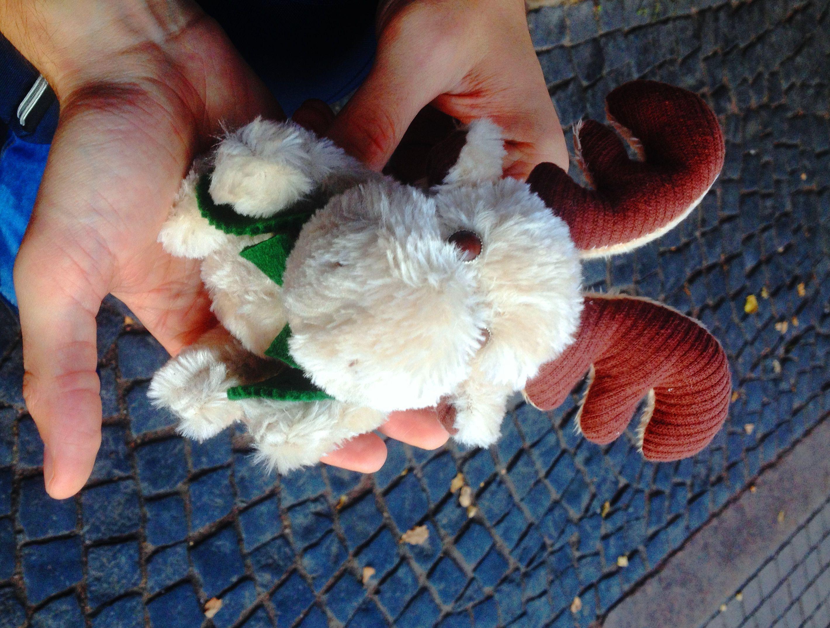 toy textile moose handmade