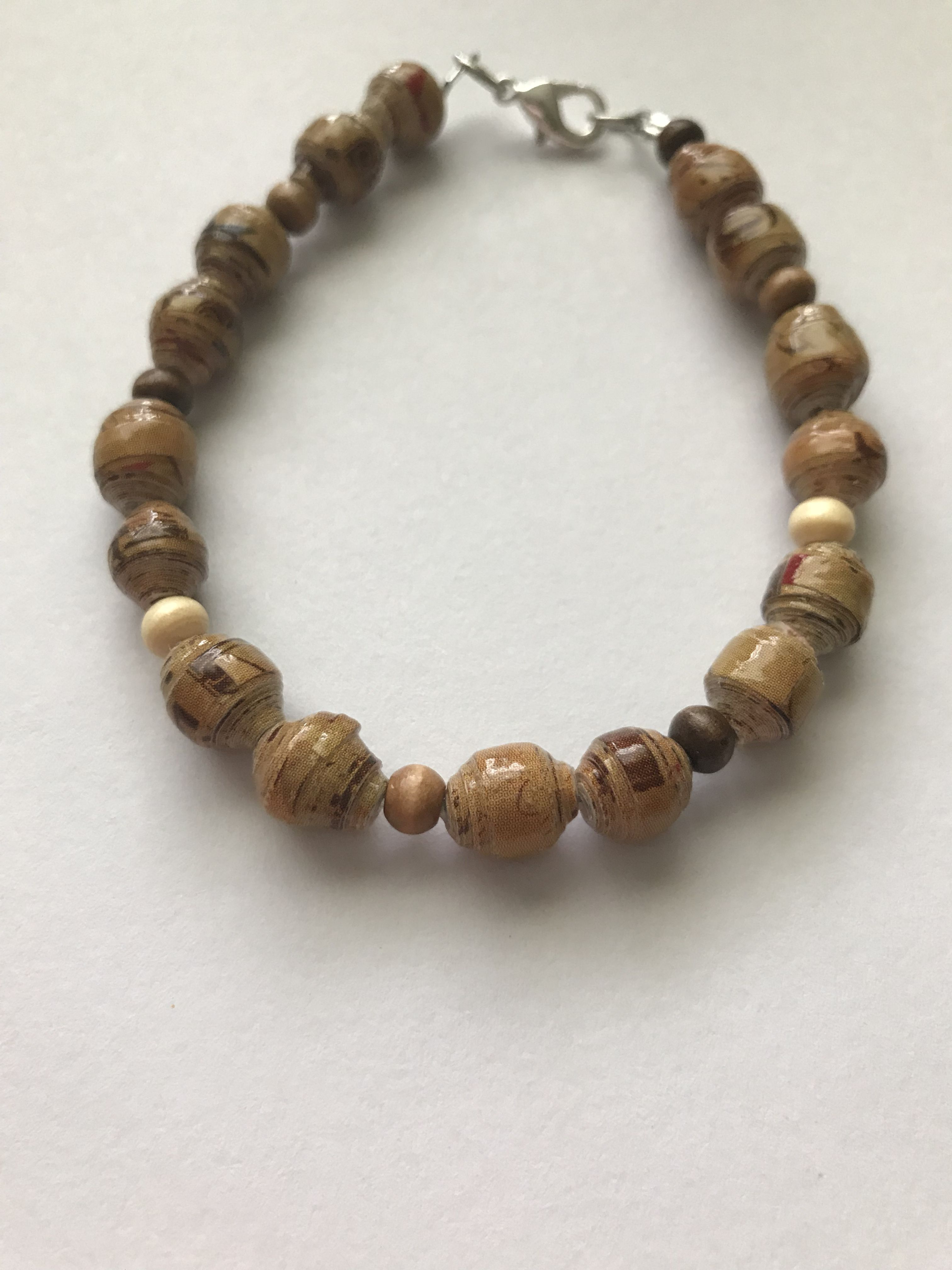 any unique brown recycled gift paperbead occasion shipping free man handmade woman bracelet material anyone for