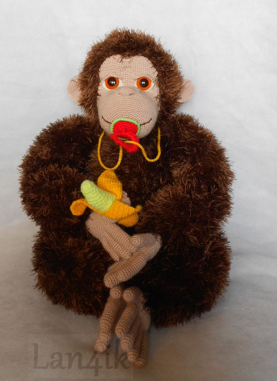 toy gift knitted monkey