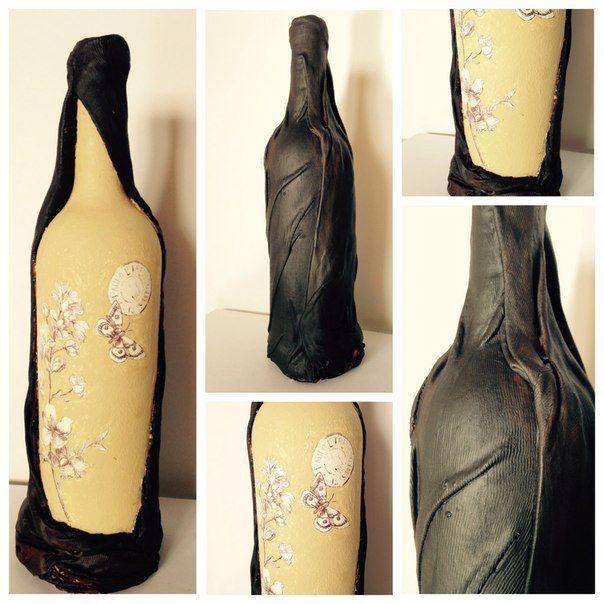 decor interior black acrylic bottle