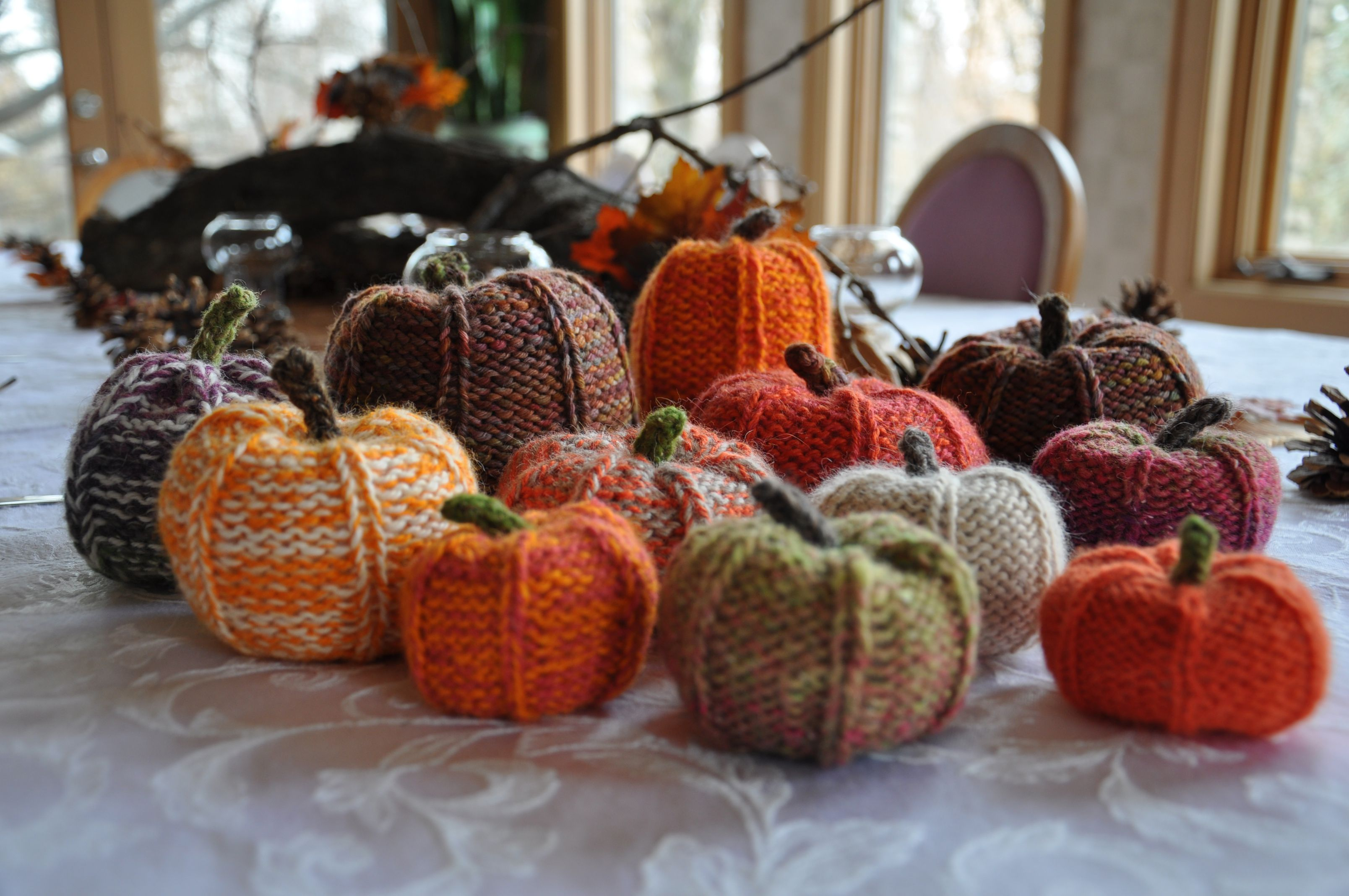 fall knitting pumpkin autumn
