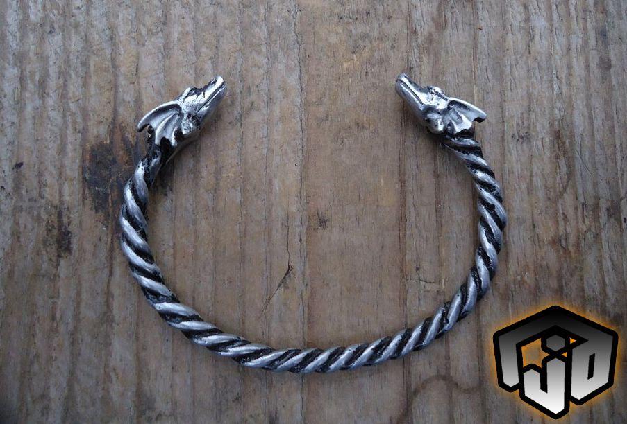 dragon viking ornament dragons celtic jewelry bracelet silver bracelets