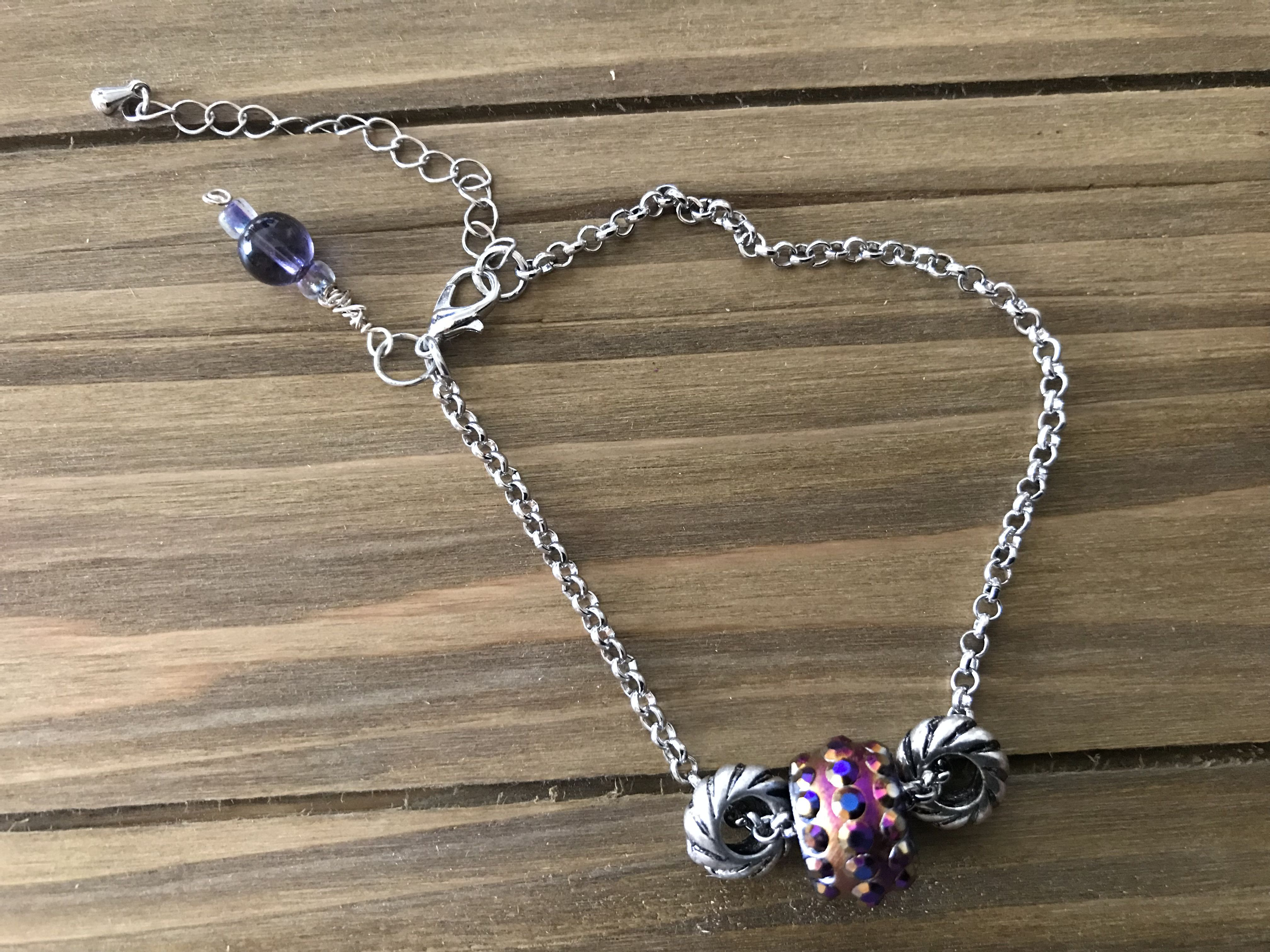 custommade madewithlove chainbracelets adjustable handmade silver stackable charms