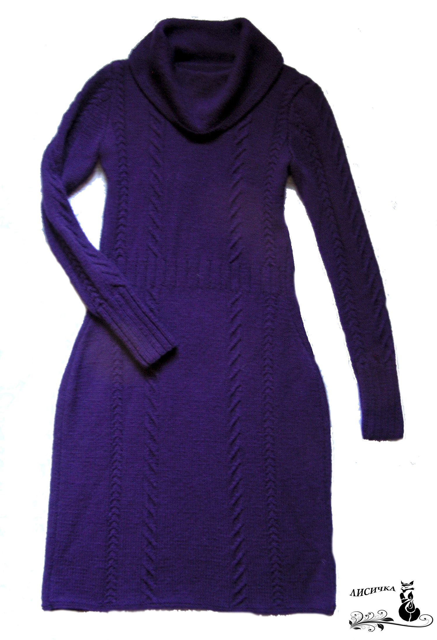 violet clothes knitting dress wool winter
