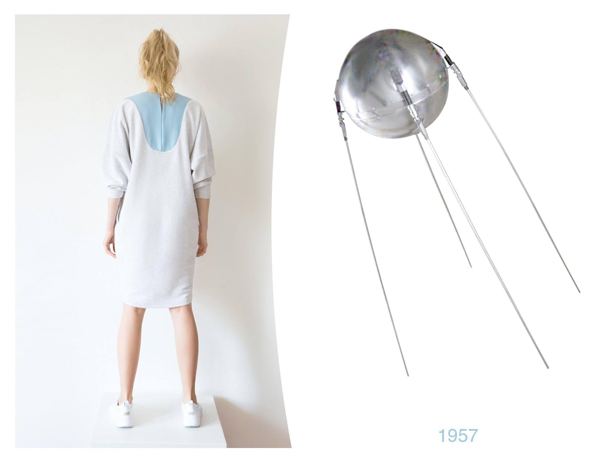 cotton clothes grey dress handmade blue