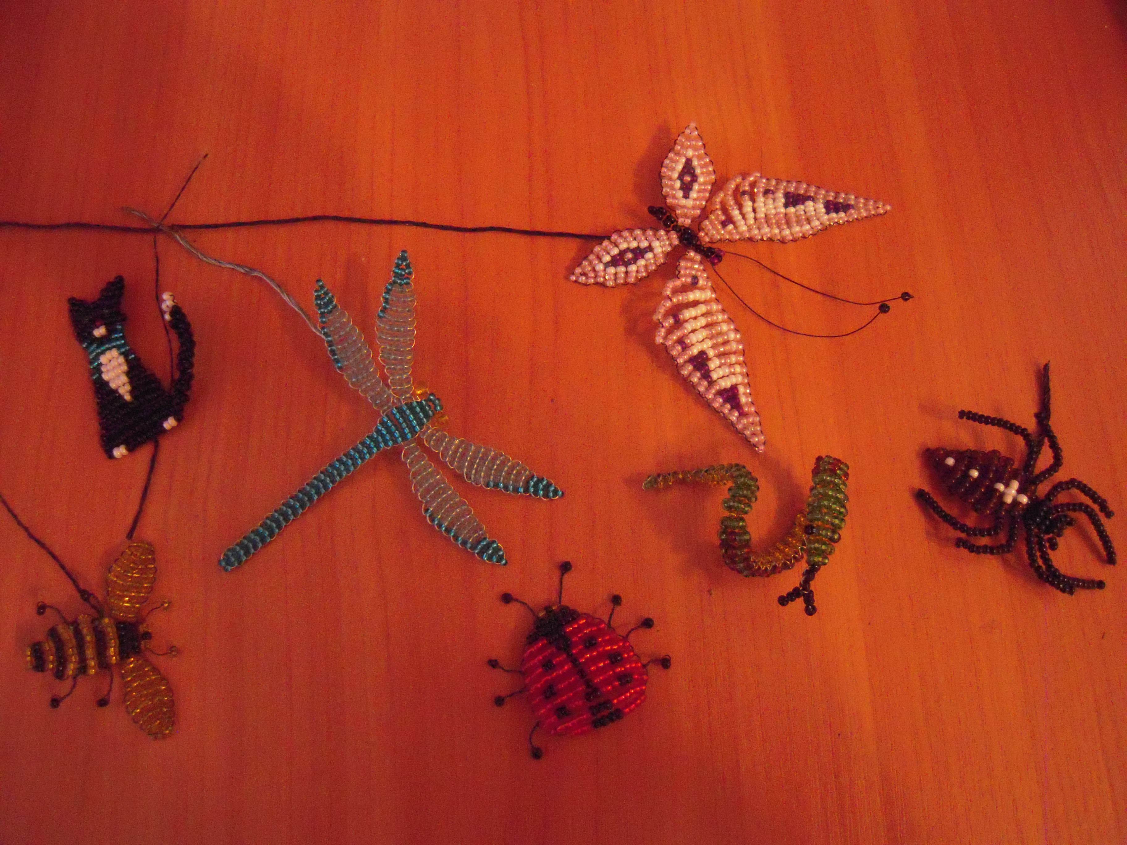 handmade beads animals