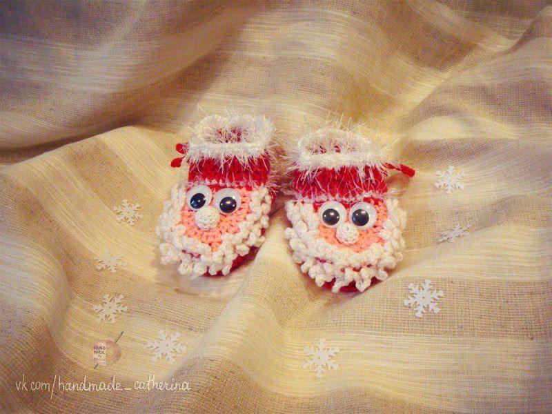 clothes christmas kids santa newborn knitting