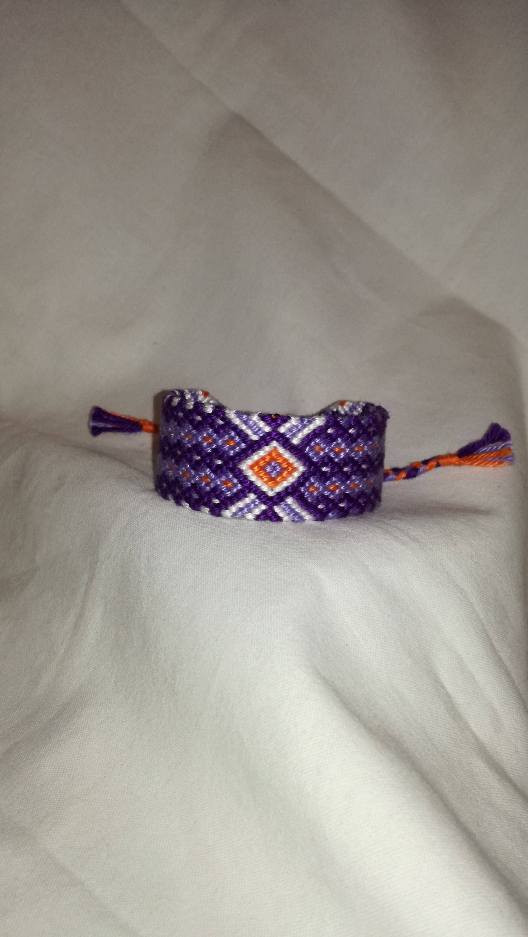 gift wrist band boho woman shades bracelet braided string knitted for purple art