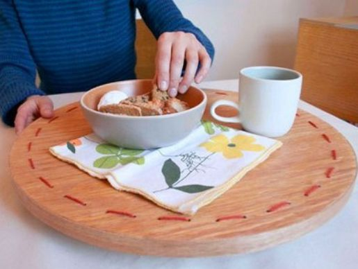 lazy susan decorating tray wood creating
