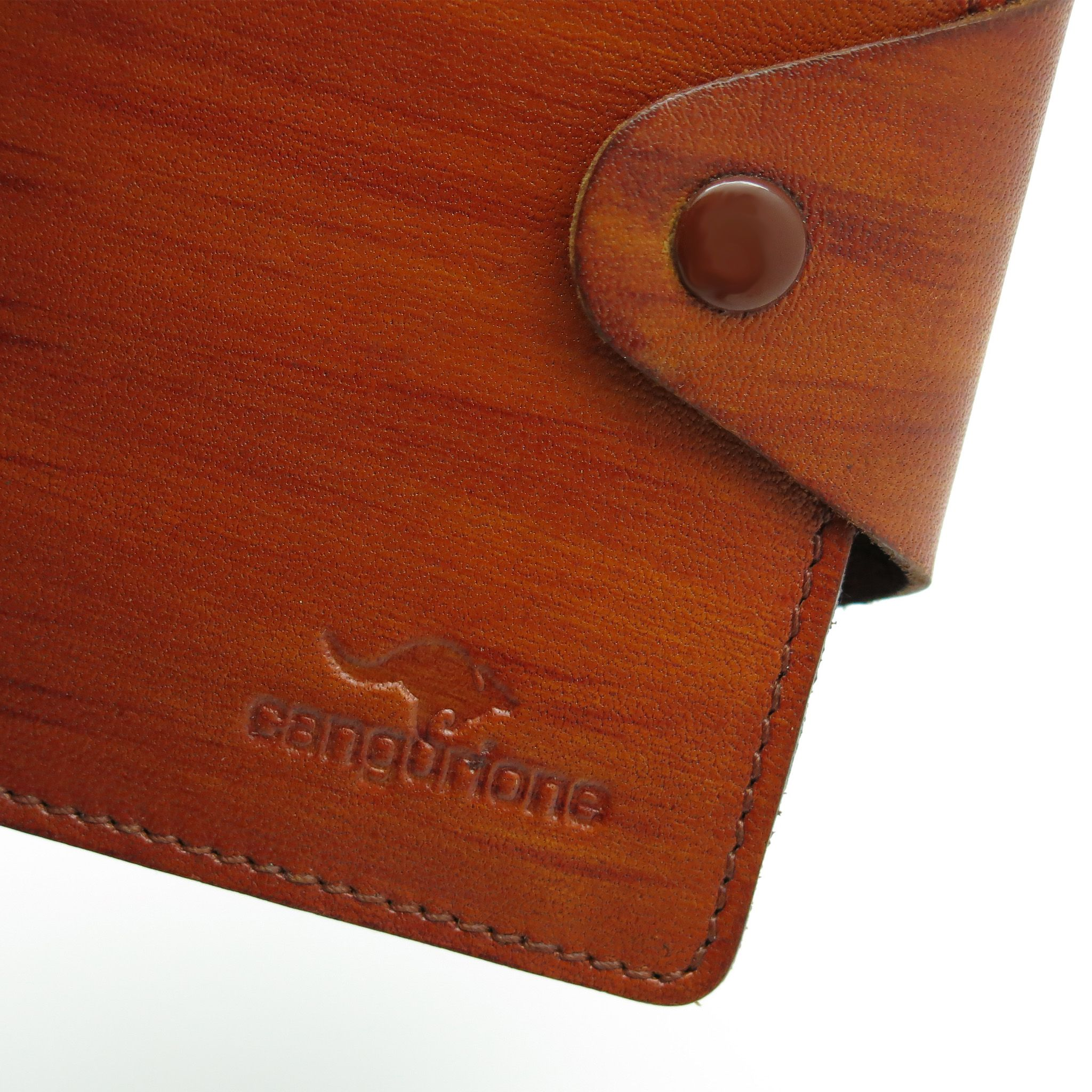 handmade leather accessories orange cardholder