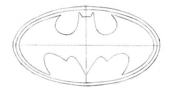 How To Draw The Batman Symbol