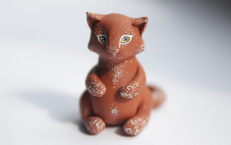 brown gift ginger cat