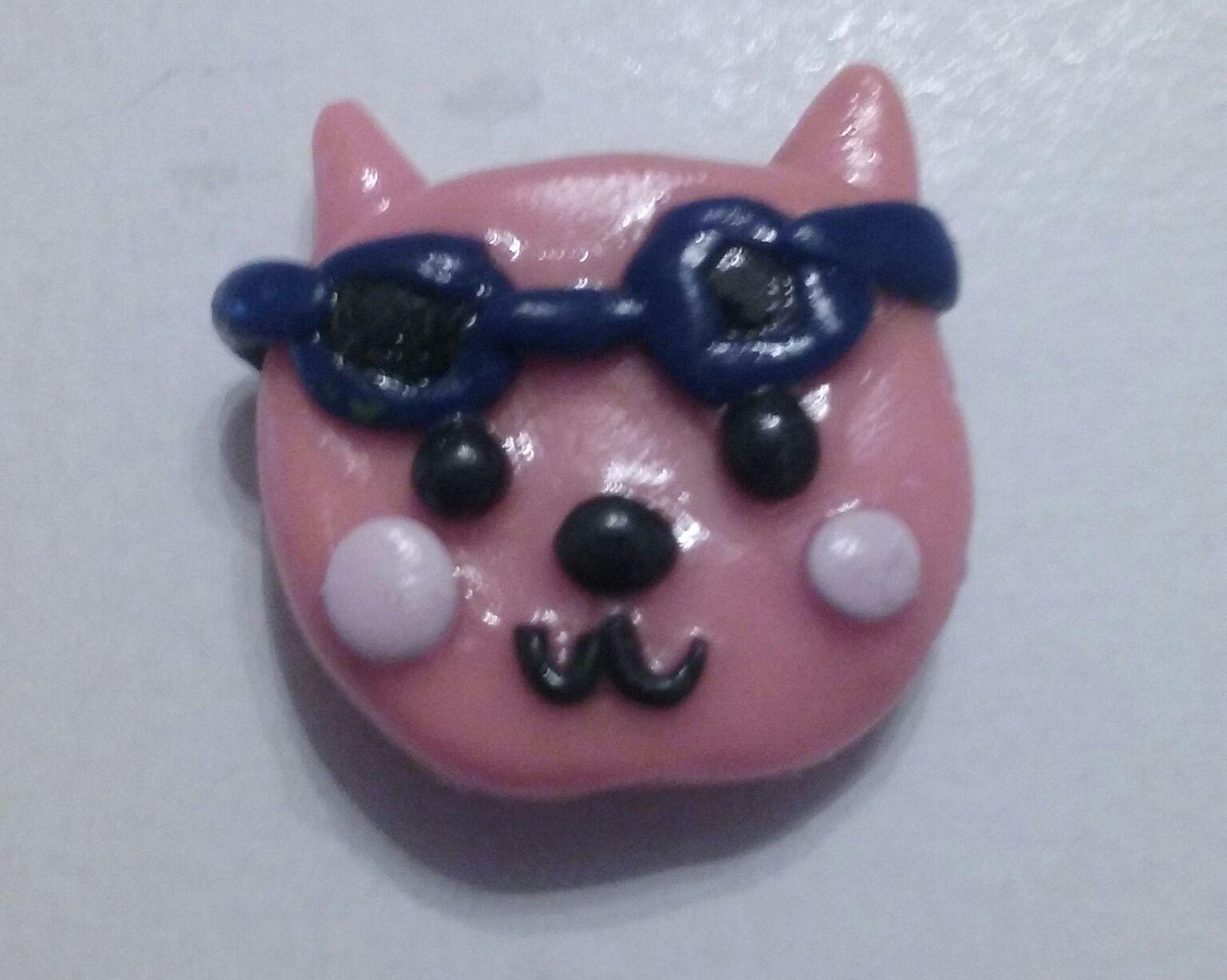 cat summer clay polymerclay animal chibi magnet sunglasses kawaii adorable
