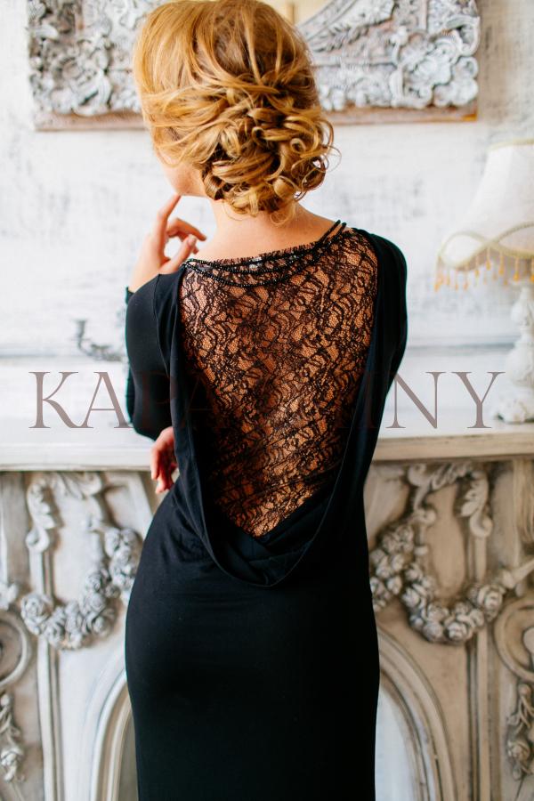 eveningdress kapachiny black dress lace