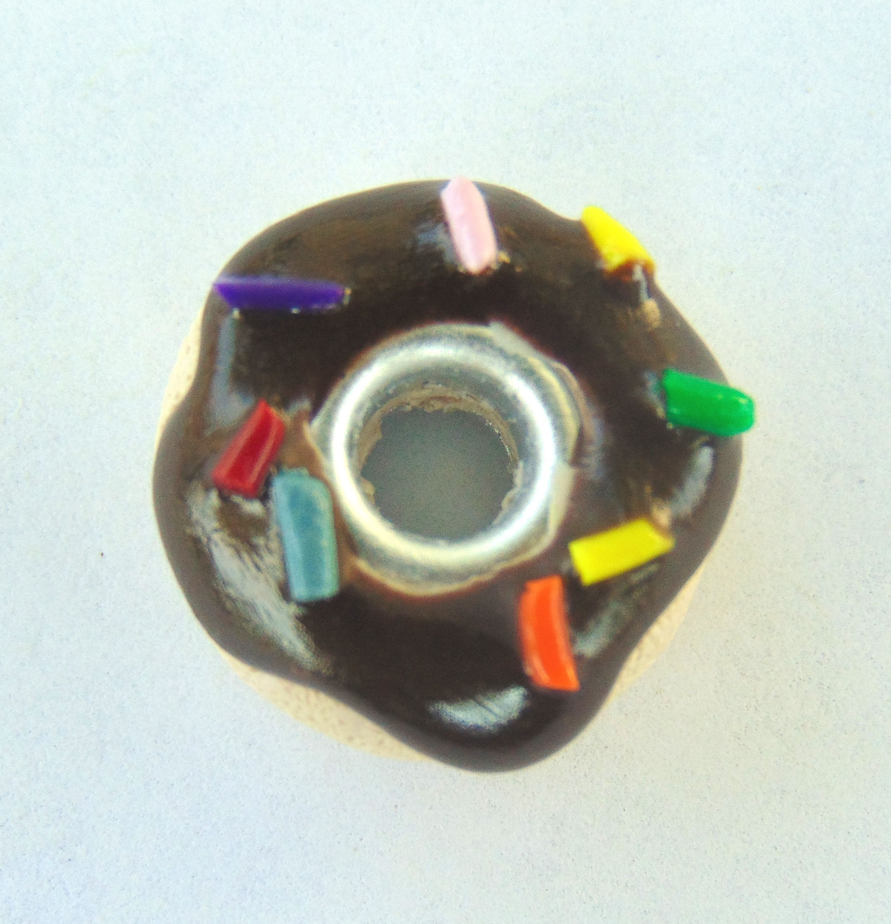 handmade donut sculpey cute bracelet chocolate clay jewelry food charm polymer sweet handcrafted frosted doughnut pandora bead pastry sprinkles