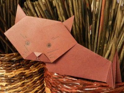 paper crafts cat make origami