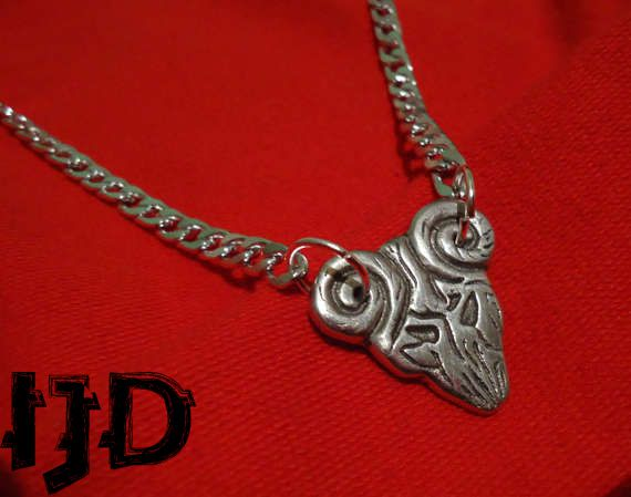 demon pendant guitar satanist satan tenaious destiny pick jewelry necklace devil pagan gothic