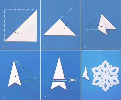 snowflakes examples scheme cut paper