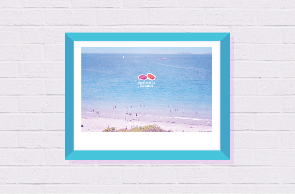 travel gift art french decor sea for home office photography beach print wall her poster