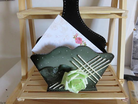 letter gift green home holder mail office