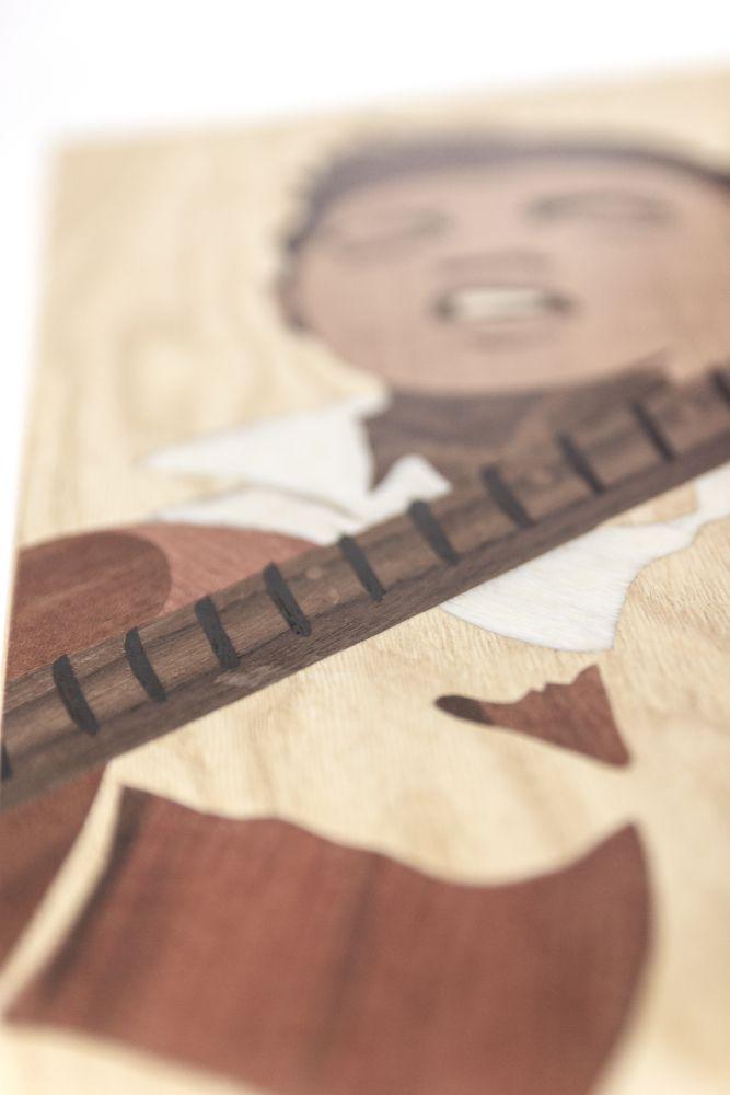 love wood famous fanart celebrity marquetry elvis singer