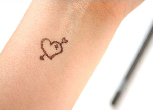 stencil sharpie temporary make tattoo