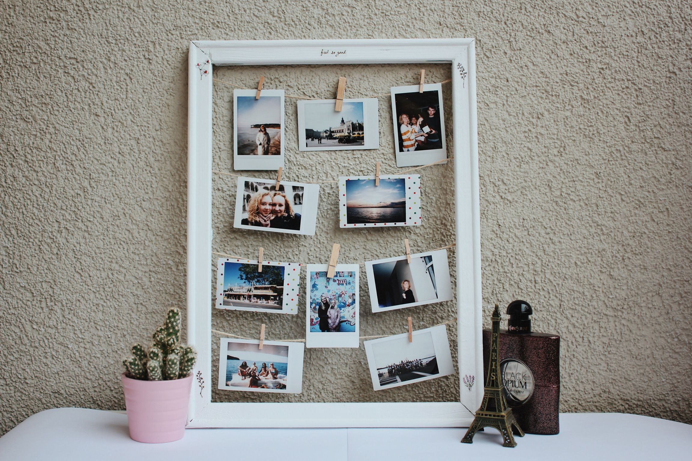 wooden decor interior diy minimal handicraft frame photo design