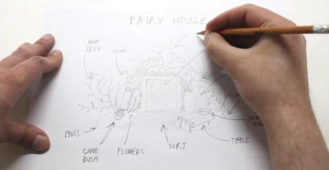 fairy decoration modeling miniature house