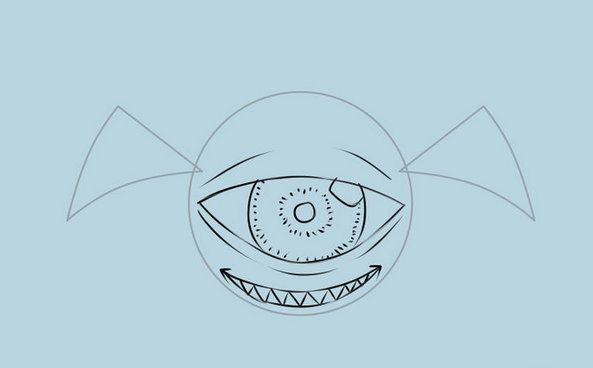 snowman eye flying abominable monsters draw art
