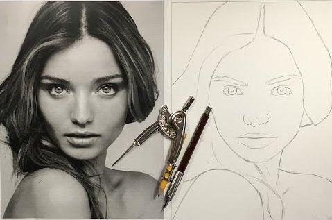 art person head profile plan draw