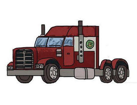 mack art illustration truck draw