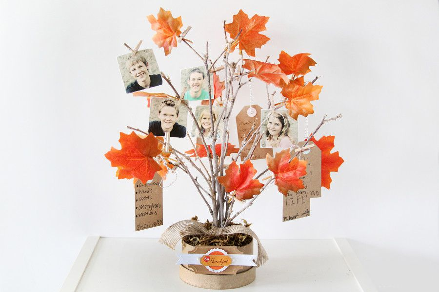 gift wood decor tree holiday family thanksgiving plaster