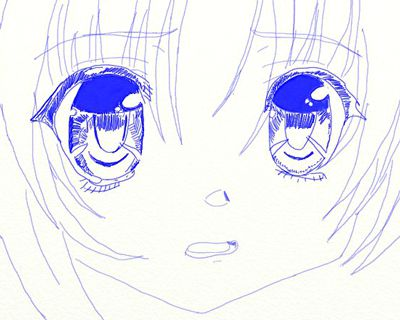 anime eyes draw pencil art