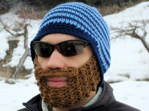 goods textile hat beard crochet