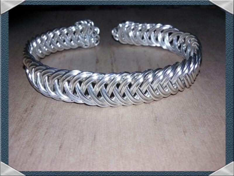 wire celtic custom woven bracelet silver weave