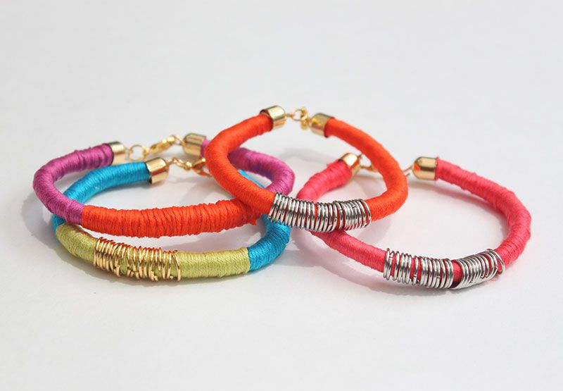 bracelet bright jewelry rope wrapping thread wrapped