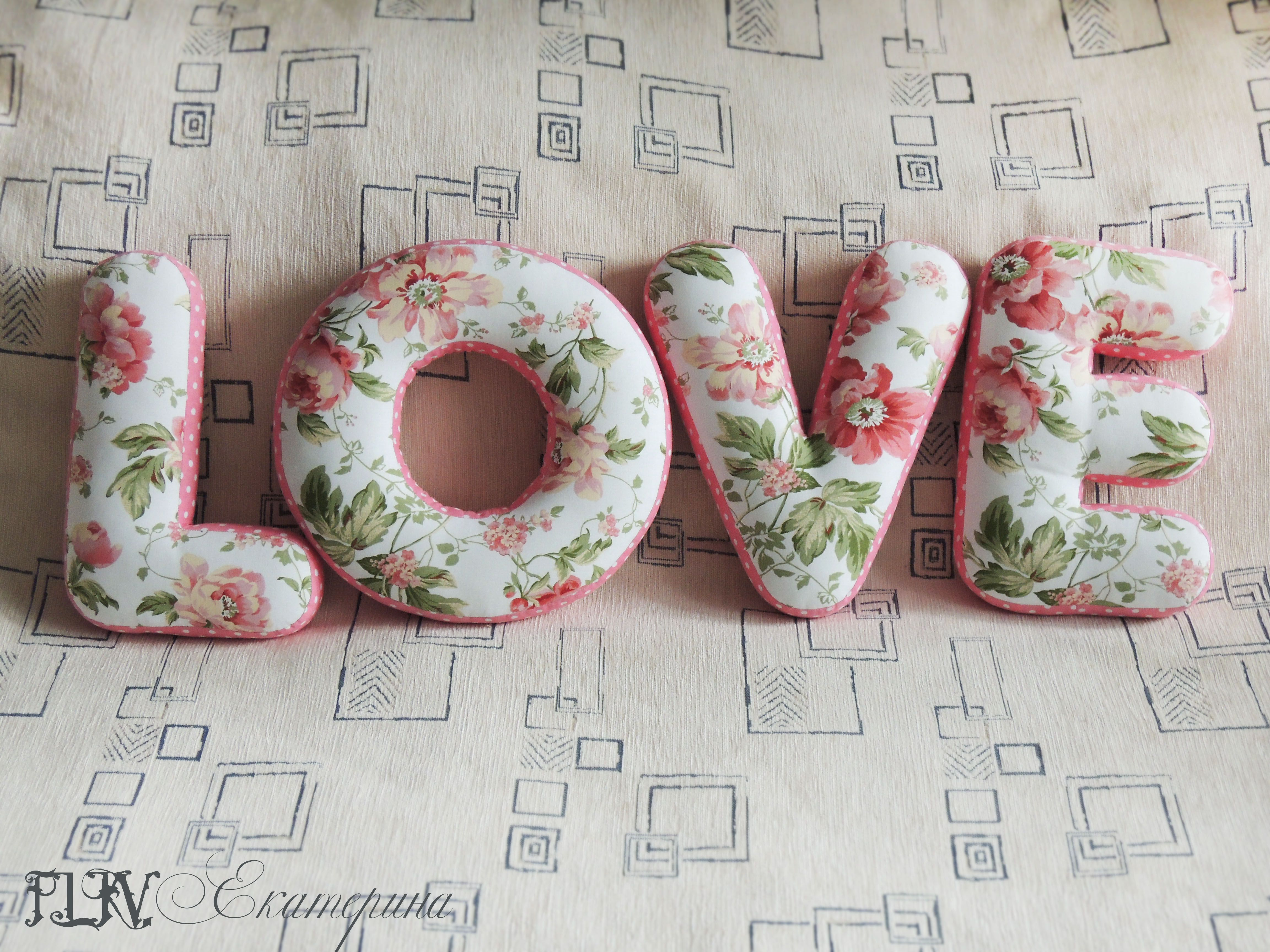textile gift pillow letters