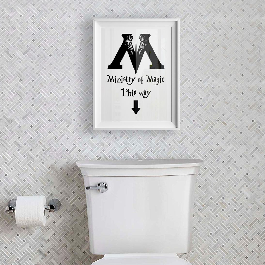 Harry Potter Bathroom Harry Potter Print