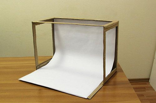 box photography light device make