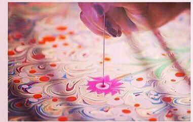 workshop ebru painting art