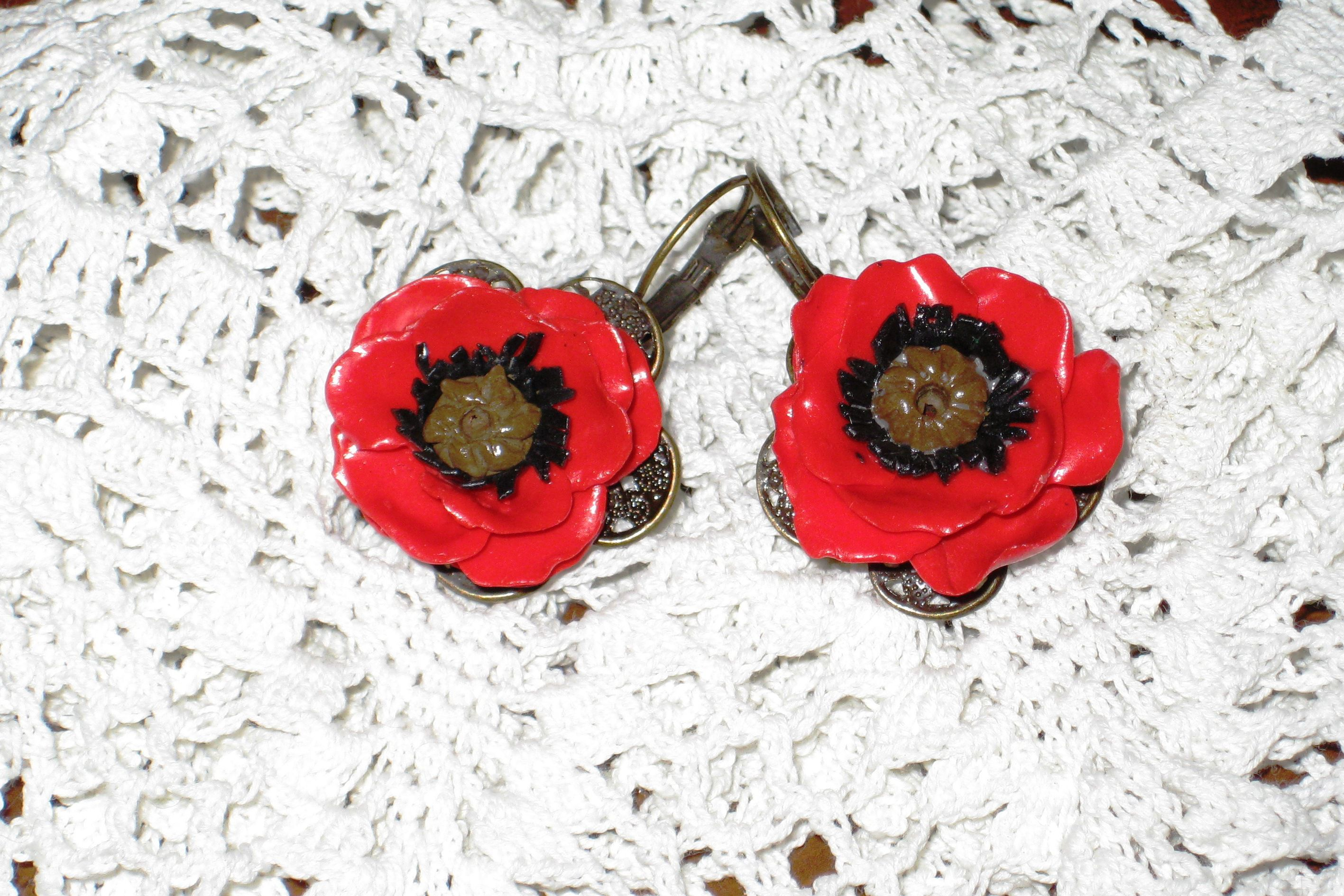 creativity flowers gift accessorizes uniquegift earrings polymerclay handmade