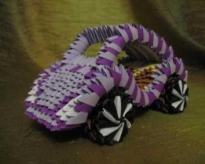 origami modular paper car crafts