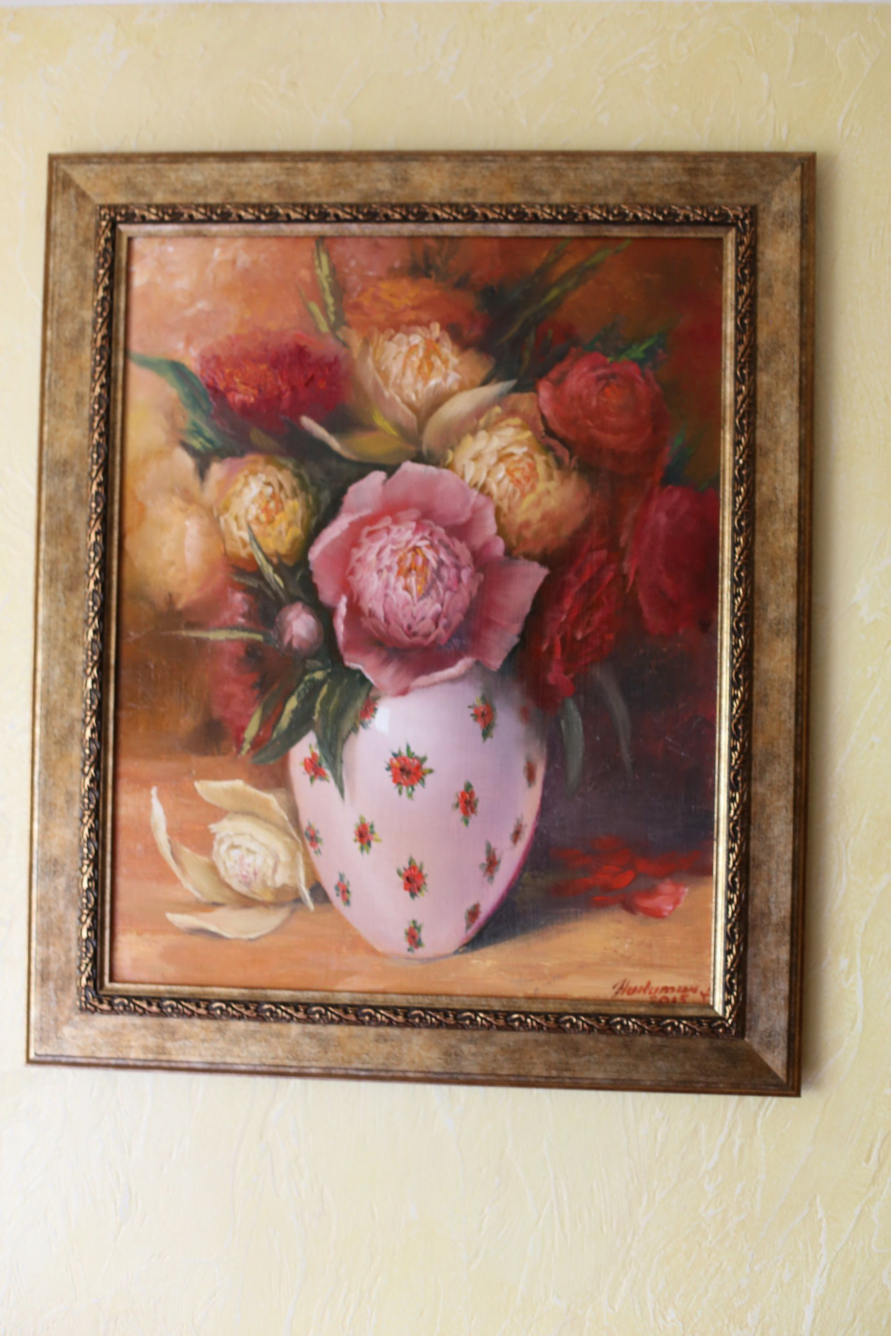 gift flowers painting picture