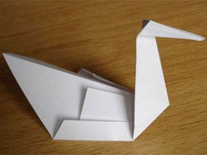 paper swan how to make a