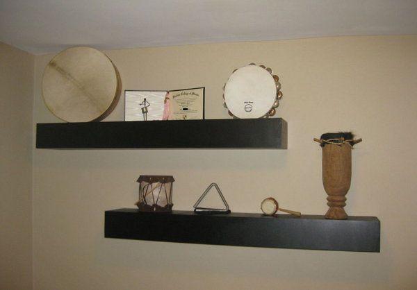 shelves floating materials hang make