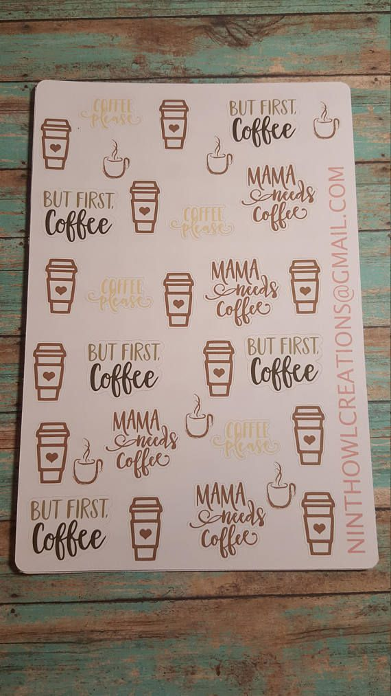coffee stickers mama planner