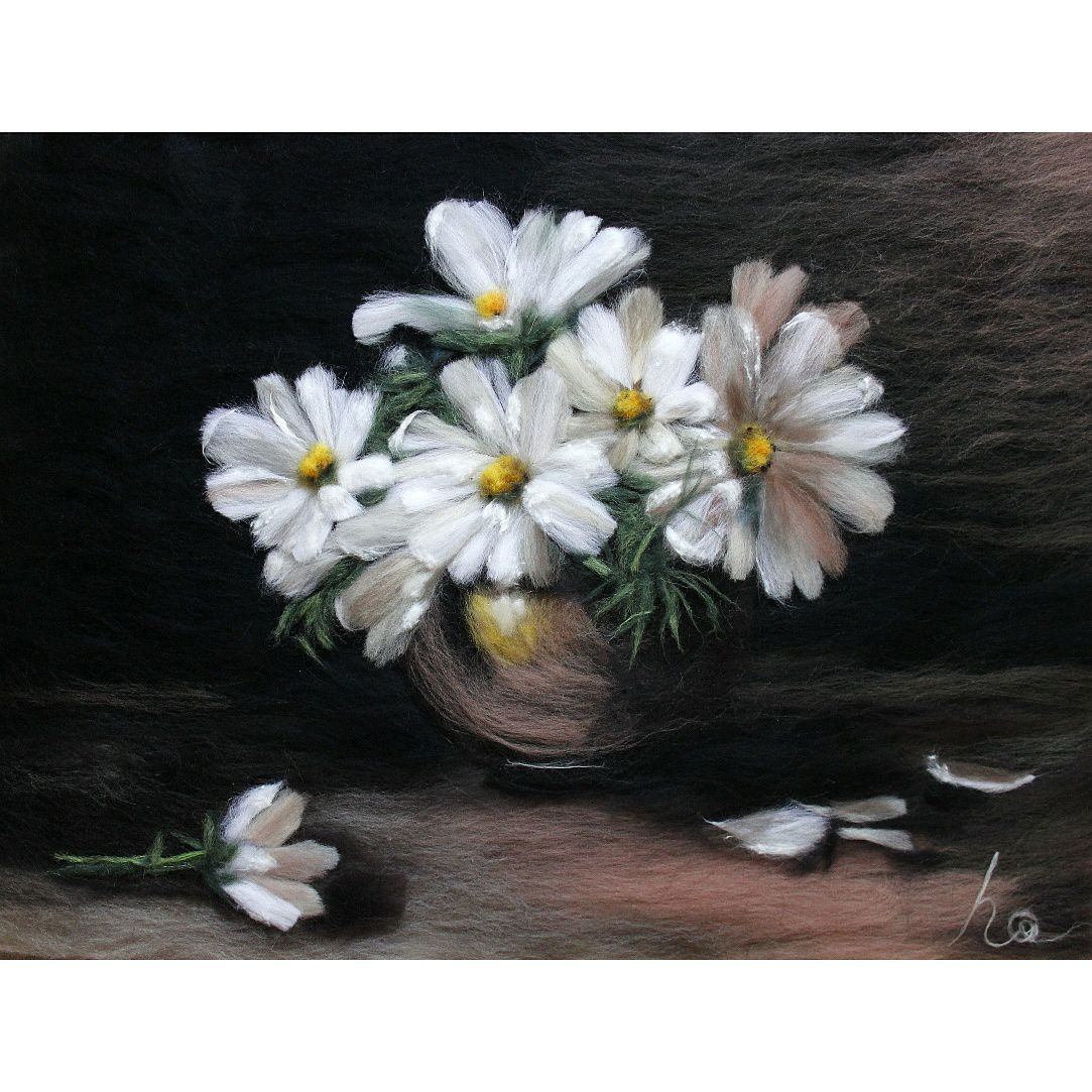 flowers wool picture wollenpicture