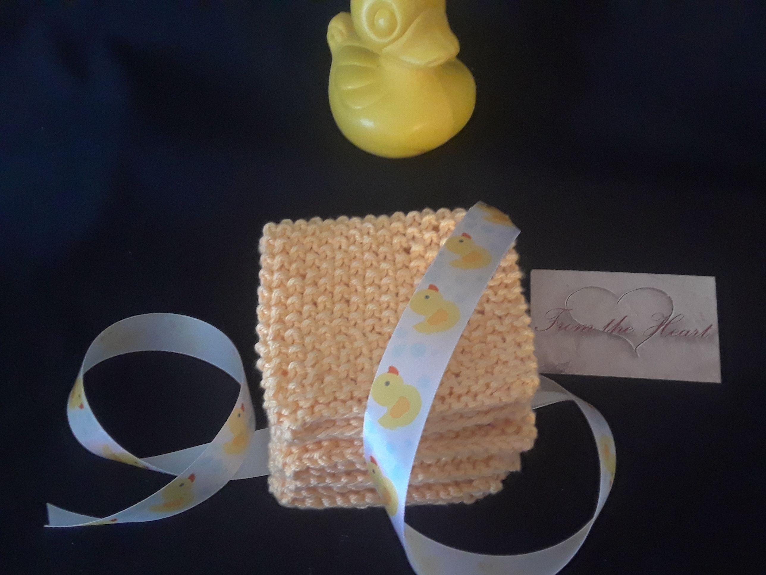 cotton baby gift knit soft washcloth