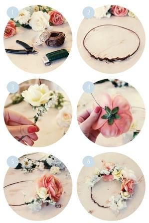 decorating wreath crowns make flower