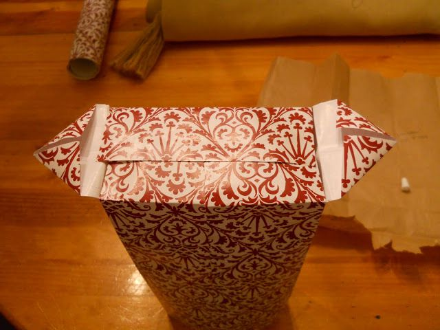 bag wrapping gift paper make